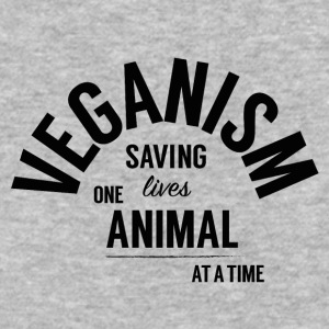 Veganism Saves Lives! - Baseball T-Shirt