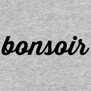 Bonsoir - Cursive Design (Black Letters) - Baseball T-Shirt