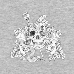 snake in eyes of skull - Baseball T-Shirt