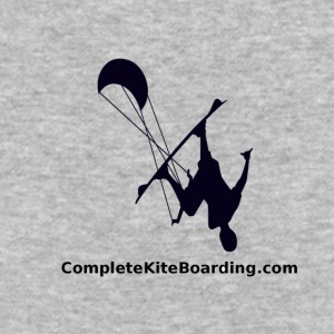 COMPLETE_KITE_BOARDING_kiter_b_and_w_gif - Baseball T-Shirt