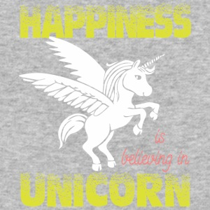 Happiness is believing in UNiCORN - Baseball T-Shirt