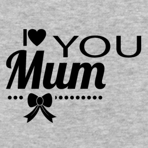 i_love_you_mom_black - Baseball T-Shirt
