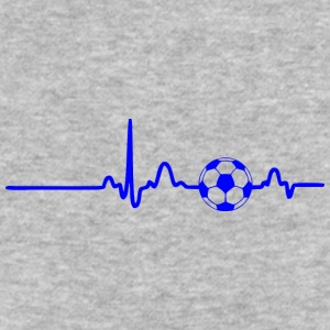 EKG HEARTBEAT BALL blue - Baseball T-Shirt