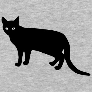 black_cat_from_side - Baseball T-Shirt