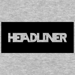 HEADLINER LOGO TRANSPARENT ON BLACK - Baseball T-Shirt
