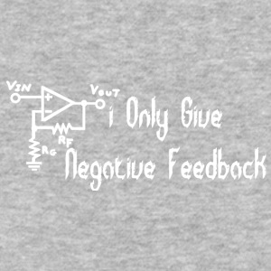 I only give negative feedback - Baseball T-Shirt