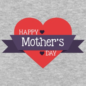 happy_mother-s_day_red_heart - Baseball T-Shirt