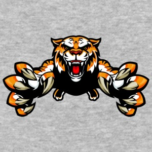 jumping_wild_tiger - Baseball T-Shirt