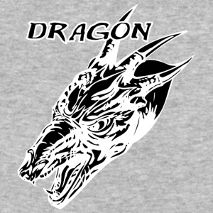 Wild_dragon_with_three_horns_black - Baseball T-Shirt