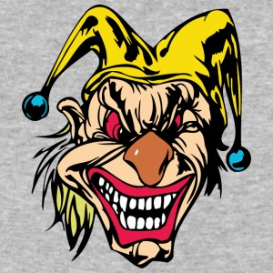 EVIL_CLOWN_13_colored - Baseball T-Shirt