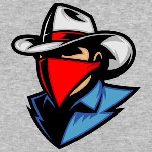 cowboy_with_blue_shirt_and_red_shawl - Baseball T-Shirt