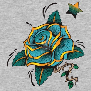 blue rose by lildachi - Baseball T-Shirt