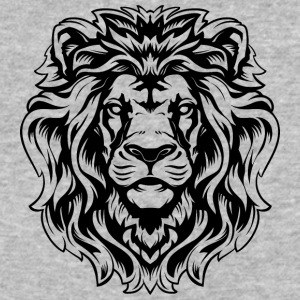 big_hairy_lion_head_black - Baseball T-Shirt