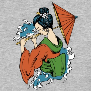Japanese_geisha_with_umbrella - Baseball T-Shirt