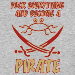 fUCK EVERYTHING AND BECOME A PIRATE FSM colored - Baseball T-Shirt