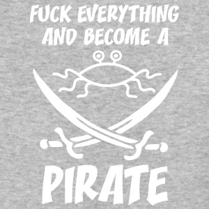 fUCK EVERYTHING AND BECOME A PIRATE FSM white - Baseball T-Shirt