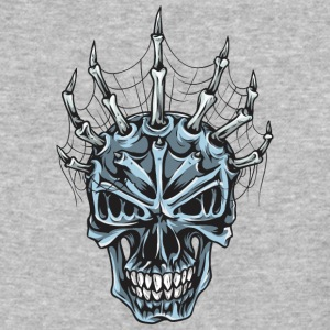 skull_with_spider_web - Baseball T-Shirt
