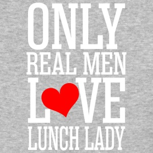 Only Real Men Love Lunch Lady - Baseball T-Shirt