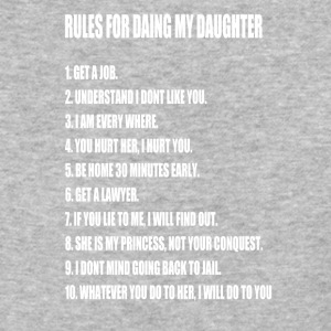 Rules For Dating My Daughter Perfect Father's - Baseball T-Shirt