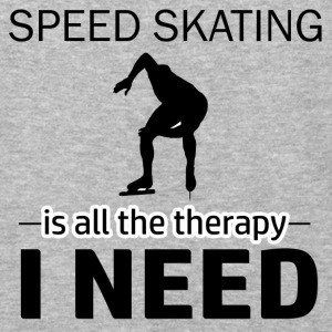 Speed skating is my therapy - Baseball T-Shirt