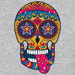 sugar_skull_show_tongue - Baseball T-Shirt