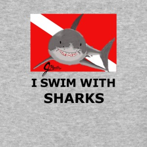 I Swim With Sharks! - Baseball T-Shirt