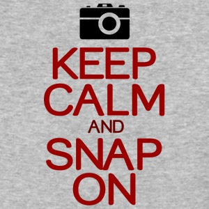 Keep calm snap on - Baseball T-Shirt