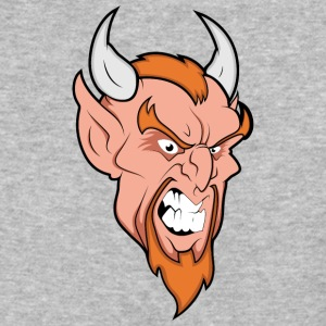 angry_devil_with_horns - Baseball T-Shirt