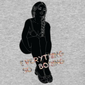 EVERYTHING_SO_BORING_BLACK - Baseball T-Shirt