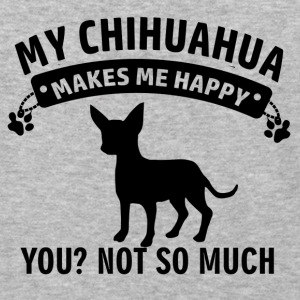My Chihuahua makes me happy - Baseball T-Shirt
