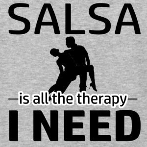 Salsa is my therapy - Baseball T-Shirt