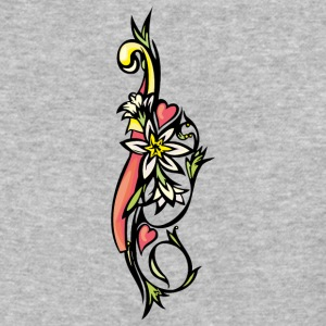 white_flowers - Baseball T-Shirt