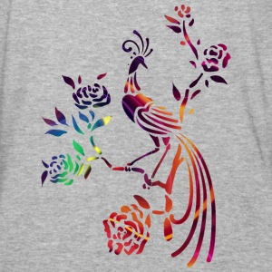Colorful birds on bough - Baseball T-Shirt