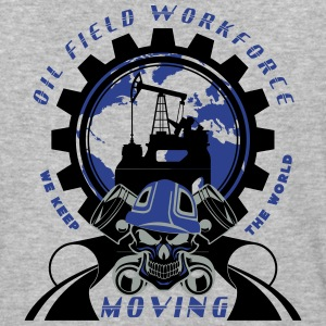 Oil Rig Workforce Keep The World Moving - Baseball T-Shirt