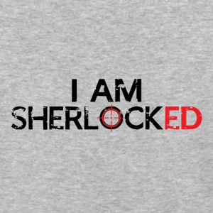 I AM SHERLOCKED - BLACK - Baseball T-Shirt