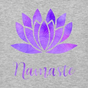 Namaste Lotus Flower - Baseball T-Shirt