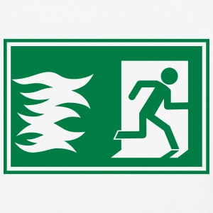 emergency exit / fire alarm sign - Baseball T-Shirt