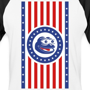 Pepe the Frog America Flag Vertical - Baseball T-Shirt