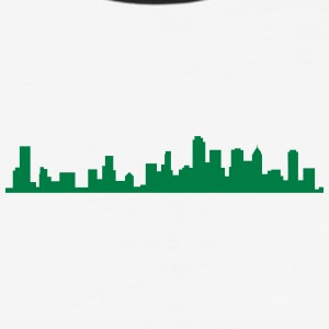 city silhouette 5 - Baseball T-Shirt