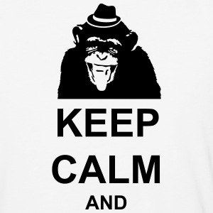 KEEP CALM MONKEY CUSTOM TEXT - Baseball T-Shirt