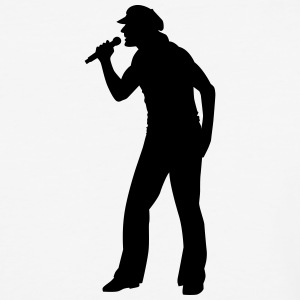 Singer and Dancer Silhouette vector design - Baseball T-Shirt