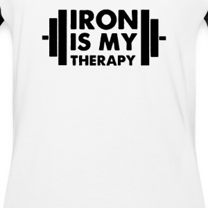 Iron is My Therapy - Baseball T-Shirt