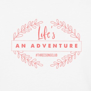 Life's An Adventure #threesonsclub Pink - Baseball T-Shirt