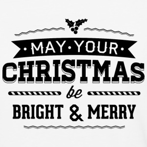 May your christmas bright and merry - Baseball T-Shirt