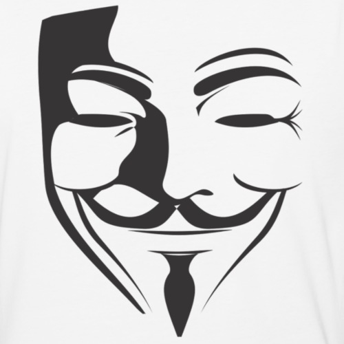 Anonymous Face - Baseball T-Shirt