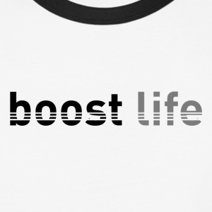 Black/Grey Boost Life Long Sleeve T-Shirt - Baseball T-Shirt