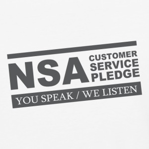 NSA Customer Service Pledge - Baseball T-Shirt