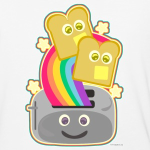 Fun Happy Kawaii Rainbow Toast - Baseball T-Shirt