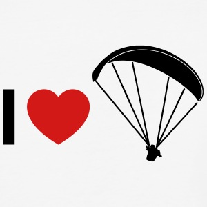 i love paragliding - Baseball T-Shirt
