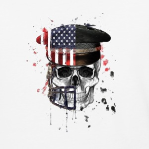 American Flag Military Cap Skull collection - Baseball T-Shirt